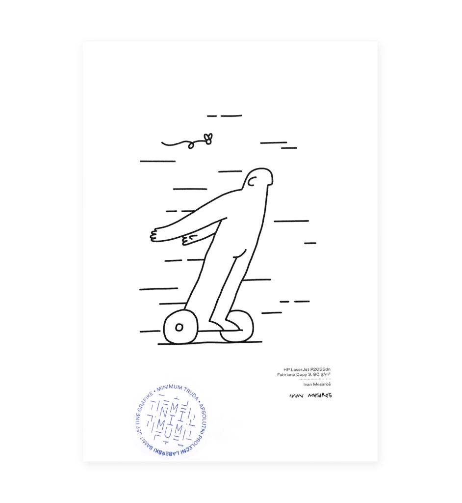 Poster of a guy on hoverboard moving with no effort